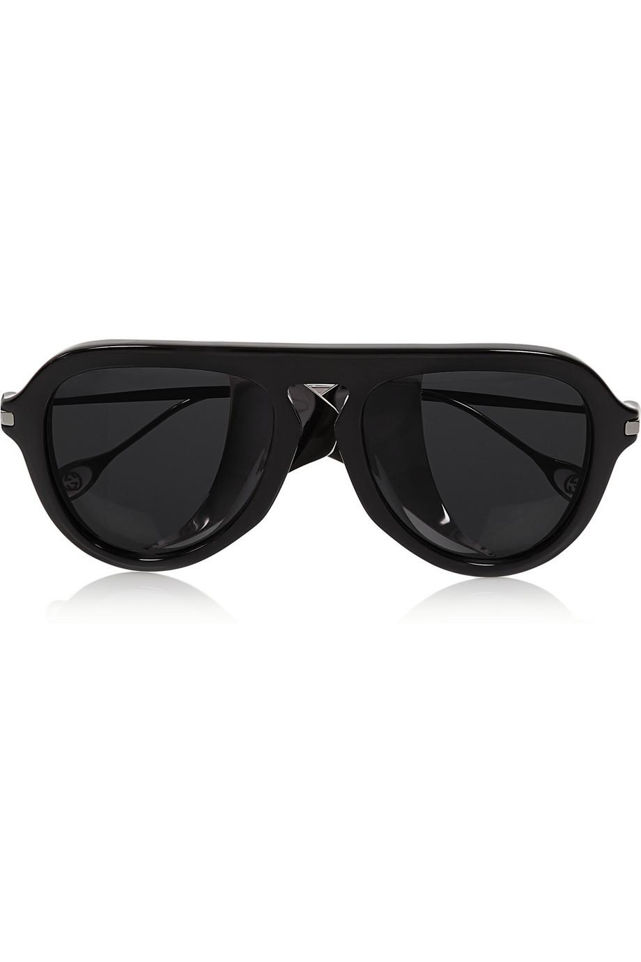 0a0e4d5e957a Style Me Maude – Gucci Aviator-style Acetate and Metal Sunglasses-1 ...